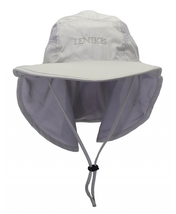 Lenikis Unisex Outdoor Activities UV Protecting Sun Hats With Neck Flap - .Light-grey - CY1262B7VRR