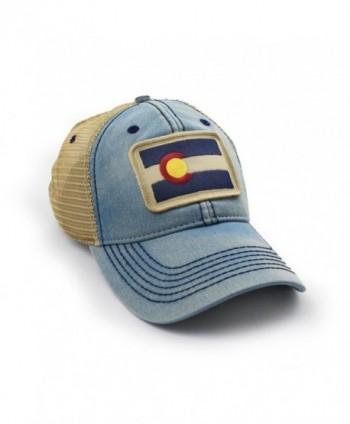 Colorado Flag Patch Trucker Americana in Men's Baseball Caps