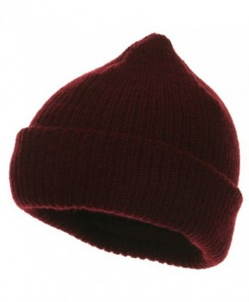 Heavy Weight Watch Cap Beanie - Maroon - CA114YSVFKF