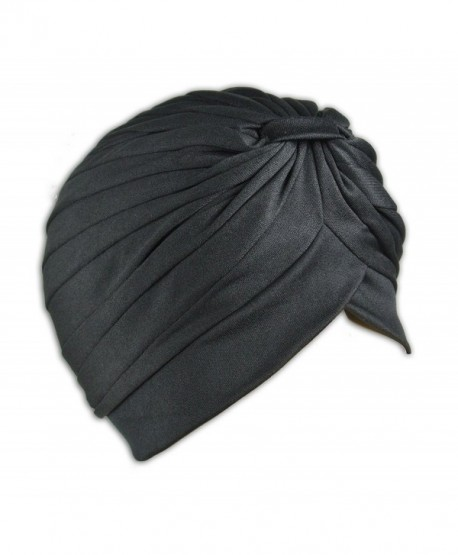 1 High Quality Stretchable Turban Hat - Black - CO11HB5JHD5