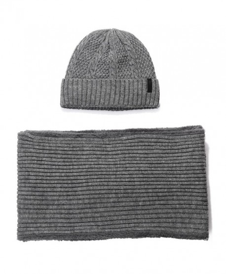 SIGGI 2 Piece Wool Knit Hat   Scarf Sets Fleece Lined Winter Beanie Neck  Warmer - b8c9735ce21b