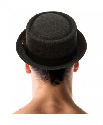 Winter Boater Porkpie Fedora Hat in Men's Fedoras