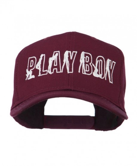 Playboy Embroidered Cap - Maroon - CS11LBM92HP