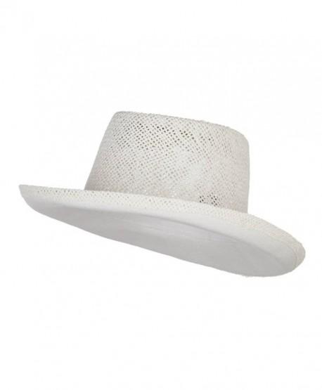 Gambler Shape Toyo Hat - White - C412ENSC9HN
