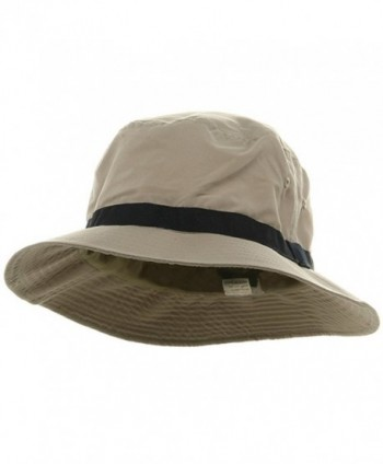 Oversized Water Repellent Brushed Golf Hat - Khaki Navy (For Big Head) - C3113HAT8Z9