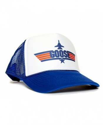 GOOSE Top Gun Unisex-Adult Trucker Cap Hat -One-Size Multi - Royal/White - CI128RIFL1V