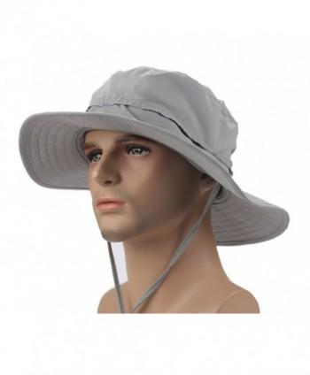 Crazy Cart Mens Womens Wide Brim Caps Quick-dry UPF50+ - AF-Light Grey - CI12FZ8H4GL