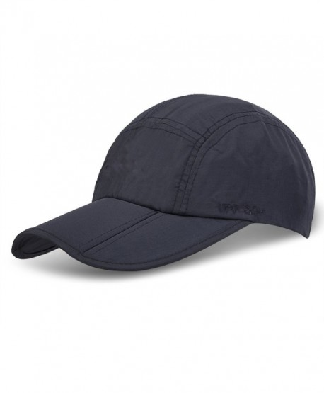 9M Clothing Company Unisex Foldable UPF 50+ Quick Dry Baseball Cap With Long Bill Portable Sun Hats - Navy Blue - CX1868Y0TT3