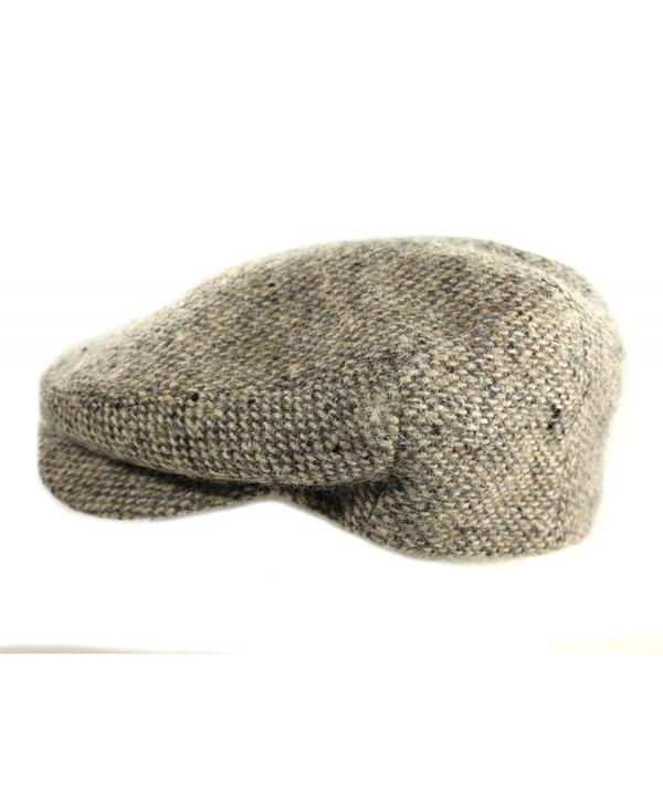 Biddy Murphy IVY Cap 100% Wool Tweed Tan Fleck Jonathan Richards Irish Made - CK17Z3Q05SU