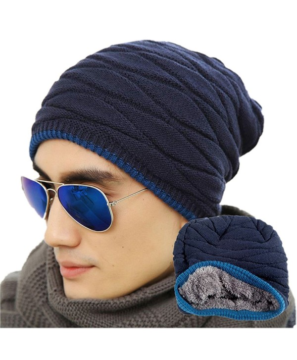 Mens Winter Warm Knitting Hats Wool Baggy Slouchy Beanie Hat Skull . 39277832eae7
