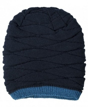 Loritta Winter Knitting Slouchy Beanie in Men's Skullies & Beanies