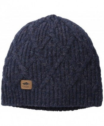 Coal Men's The Yukon Chunky Knit Warm Beanie Hat - Navy - C611J47LN49