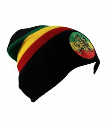 Rasta Lion Embroidered Beanie - C211VJ0SGX5