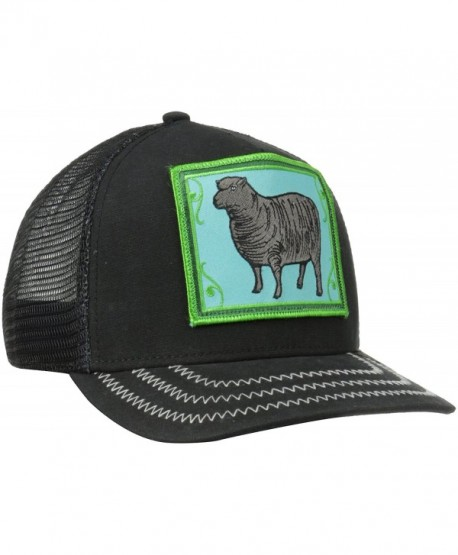 Goorin Bros. Women's Animal Farm Snap Back Trucker Hat - Black/Green Sheep - CL115FL70KT