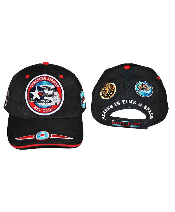 TUSKEGEE AIRMEN RED TAILS HAT 332ND AIR FORCE BLACK HISTORY CAP - Red Tails 3 Planes - C4129SHLVY1