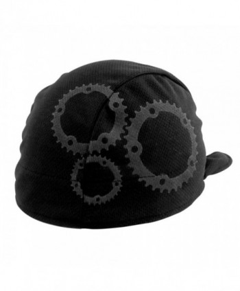 Headsweats Shorty Gears Performance Cycling Skull Cap - Black/Grey - CN115TKKPPD