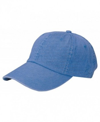 Mega Cap Unstructured Pigment Dyed Garment Washed Cap - Royal Blue - CI12DE8Y7XH