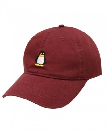 City Hunter C104 Penguin Cotton Baseball Dad Cap 19 Colors - Burgundy - CG1824NGAOY