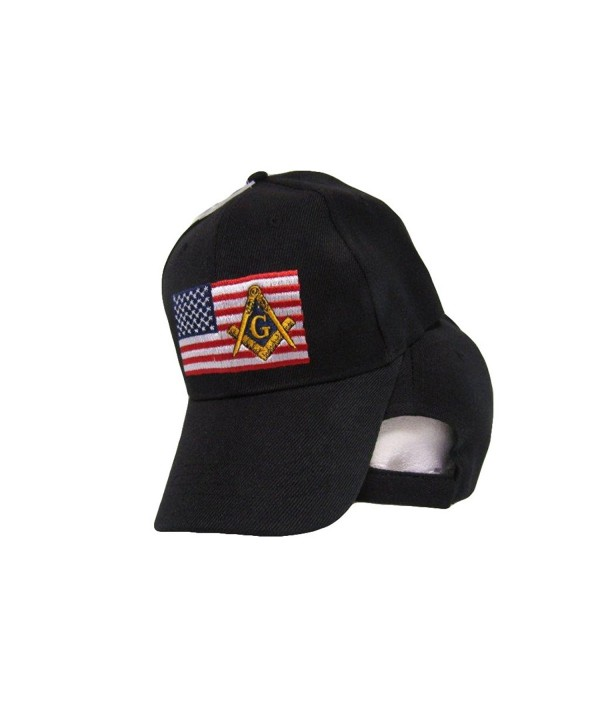 USA Mason Masonic Freemason American Patch Black Embroidered Cap Hat - CK1853MQ9LU