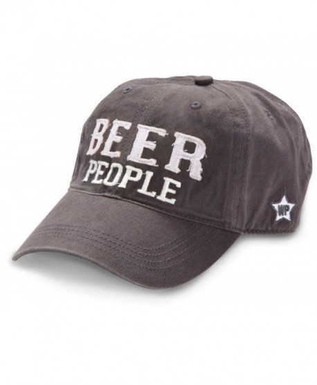 We People Beer People Baseball Cap Hat with Adjustable Strap- Gray - CY12IRDGREL
