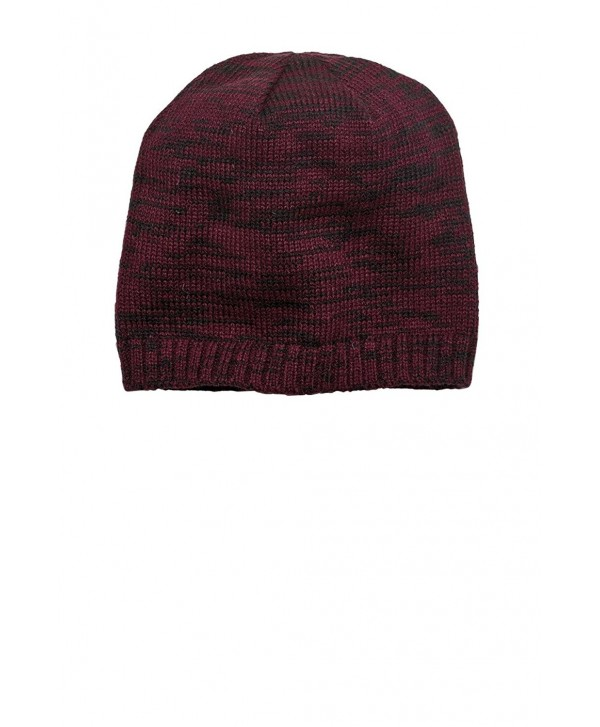 District Men's Spaced Dyed Beanie - Maroon/ Black - C111QDS73F5