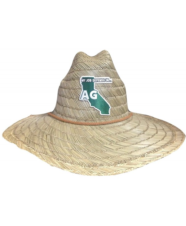 My Job Depends on Ag Lifeguard Farmer Straw Hat - California - CP12I5DL7P7