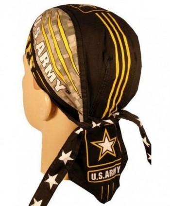 Danbanna Deluxe skull cap biker caps headwraps doo rags Army Pinstripe - CS12FAX2299