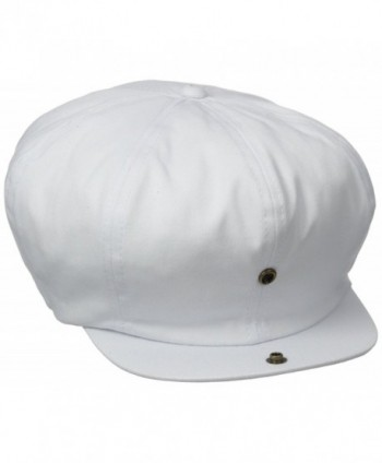 Dorfman Pacific Co. Men's White Cap 8/4 Panel - White - C7115NMVFYH