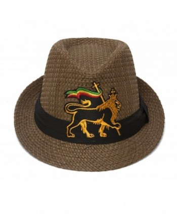 52488a660f159b Gravity Straw Fedora w/Patch (Various Fun Styles) - Lion of Judah Emblem