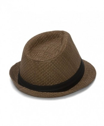 Gravity Straw Fedora Patch Emblem in Men's Fedoras