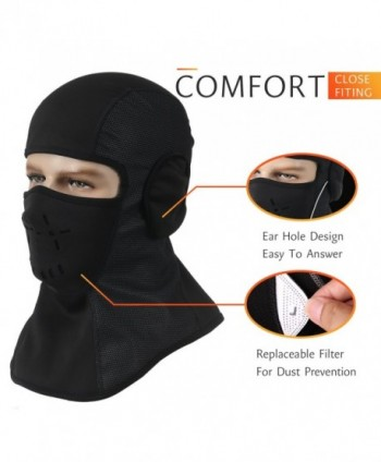 OUMAL Windproof Ski Mask Balaclava Fleece Hood Outdoor Sports Face Mask For Men Women - CU188QYT84Y