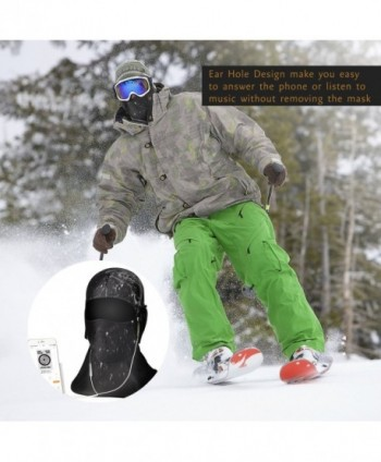 OUMAL Windproof Balaclava Fleece Outdoor in Men's Balaclavas