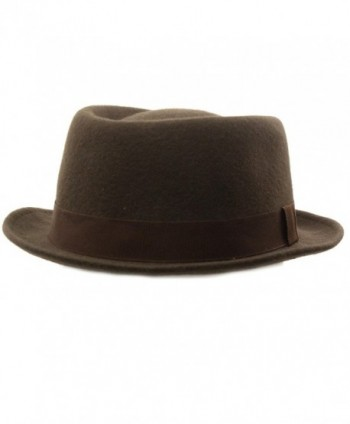 Winter Boater Porkpie Ribbon Hat