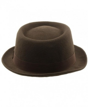 Winter Boater Porkpie Ribbon Hat in Men's Fedoras