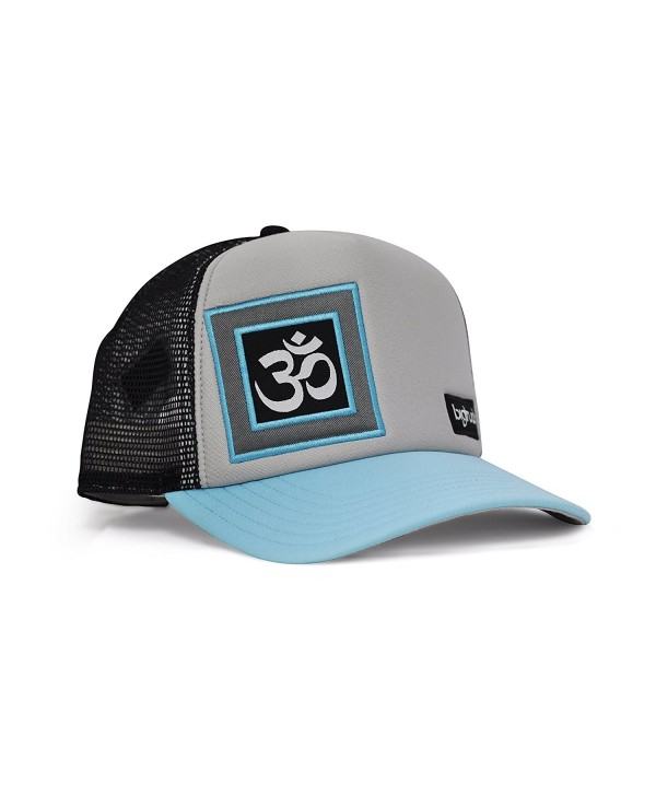 bigtruck Original Yoga Mesh Snapback Trucker Hat- Grey/Black - C012E6U5UCJ
