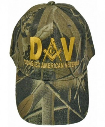 Mason Hat Disabled American Veteran DAV Masonic Freemason Cap Mens - Camouflage - CR12CIXH7L3