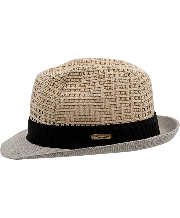 Sterkowski Summer Linen Trilby Sun Hat with Openwork Crown - CU11OHTDORX
