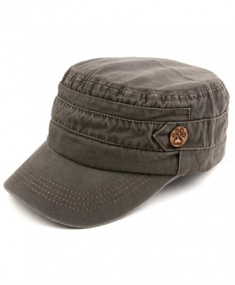 Unisex 100% Cotton Washable Cadet Cap 176HC - Gray - C611NZHC325