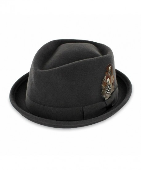 Belfry Jazz - Wool Diamond Porkpie - Black - C6116Z46B8R