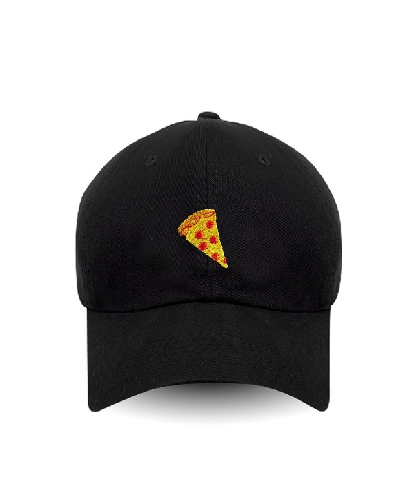 Pizza Embroidered Dad Hat 100% Cotton Baseball Cap For Men And Women - CD17Y0R6QHQ
