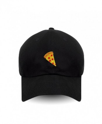 Pizza Embroidered Cotton Baseball Women