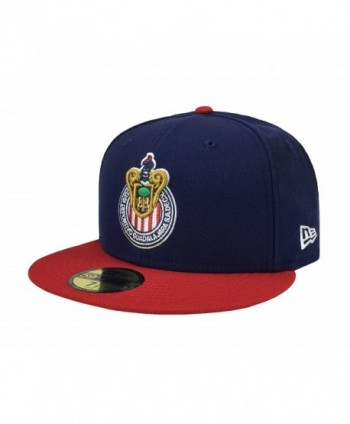 New Era 59Fifty Hat Chivas De Guadalajara Liga MX Soccer Navy Blue/Red Cap - C812NBUDPCU