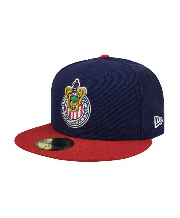 e789932c531 New Era 59Fifty Hat Chivas De Guadalajara Liga MX Soccer Navy Blue Red Cap -