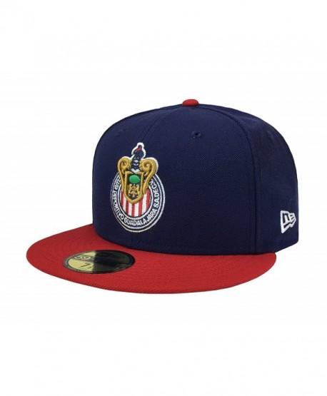 New Era 59Fifty Hat Chivas De Guadalajara Liga MX Soccer Navy Blue/Red Cap - C812NBUDPCU
