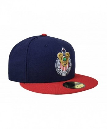 New Era 59Fifty Hat Chivas De Guadalajara Liga MX Soccer Navy Blue Red Cap  -  New Era 59Fifty Chivas Guadalajara a5f733936f3a