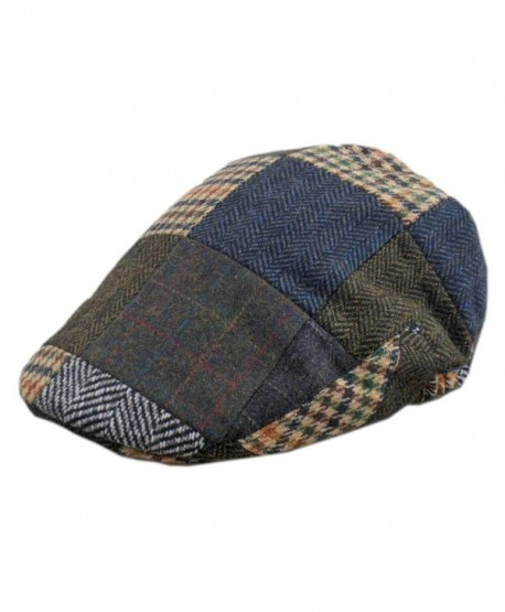 Men's Tweed Patch Cap- Authentic- Made in Ireland- Traditional Style - CH11HP6L625