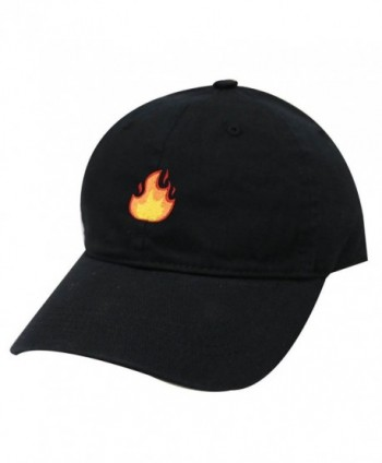City Hunter C104 Fire Cotton Baseball Dad Cap 18 Colors - Black - CA17YEGN22A