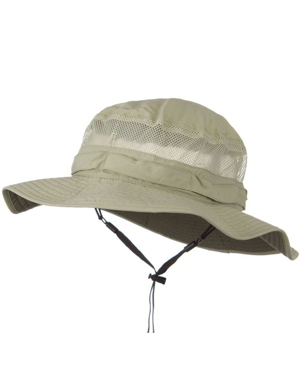 UV 50+ Side Mesh Talson Bucket Hat - Khaki - CU11J5ZPGMZ