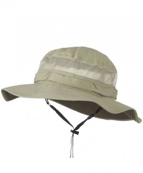 UV 50+ Side Mesh Talson Bucket Hat - Khaki - CU11J5ZPGMZ 3dba209fe379