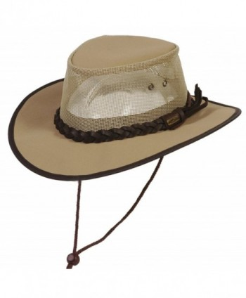 Conner Hats Crushable Waterproof Australian Canvas Outback Hat - Beige S - CC11996D4YH